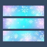 Modern Happy New Year set of vector banners. Christmas background.  Royalty Free Stock Photos