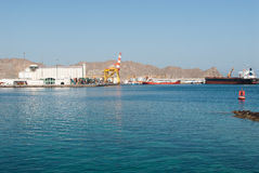 Modern harbour in Muscat, Oman Royalty Free Stock Image