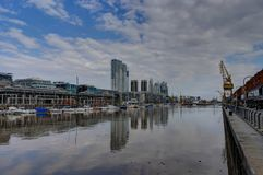 Modern Harbour Puerto Madero district in Buenos Aires Argentina royalty free stock photography