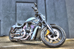 Modern Harley Davidson motorcycle. Modern American Harley Davidson motorcycle on display at bike show in Melbourne, Australia royalty free stock image