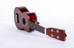 Modern hawaiansk gitarr med fyra rader Arkivfoton