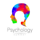 Modern head logo of Psychology. Profile Human. Creative style. Logotype in vector. Design concept. Brand company Royalty Free Stock Photos
