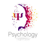 Modern head logo of Psychology. Profile Human.  Stock Photography