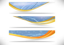 Modern headers collection - for web and advertisin. G. Clip-art Royalty Free Stock Images