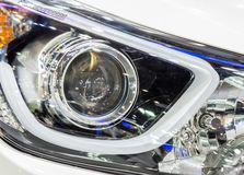 Modern headlight Stock Images