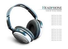 Modern headphone Stock Photo