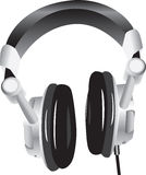 Modern headphones Stock Images