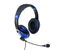 Modern headphones with microphone Stock Photography