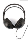 Modern Headphones Over White Royalty Free Stock Photo