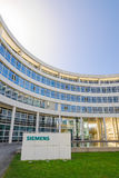 Modern headquarters building of Siemens AG. Munich, Germany - April 4, 2016: Modern headquarters office building of German industrial corporation Siemens AG Stock Photos