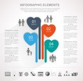 Modern heart infographics Royalty Free Stock Photo