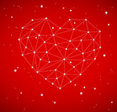 Modern heart made from triangles Royalty Free Stock Image