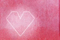 Modern heart shape design on a red, pink material Stock Image
