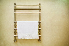 Modern Heated Towel Rail Royalty Free Stock Photography