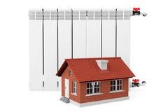 Modern Heating Radiator with Home Stock Photos