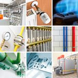 Modern heating system Royalty Free Stock Images