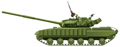 Modern heavy tank. Vector color illustration of  tank. (Simple gradients only - no gradient mesh Royalty Free Stock Photo