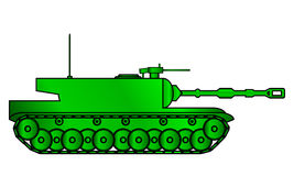Modern heavy tank. On white background vector illustration