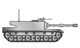 Modern heavy tank. On white background Royalty Free Stock Photo