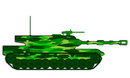 Modern heavy tank. On white background Royalty Free Stock Images