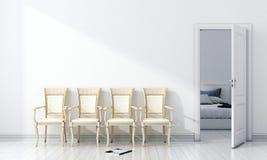 Modern helder binnenland 3d geef terug Royalty-vrije Stock Afbeelding