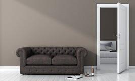 Modern helder binnenland 3d geef terug Royalty-vrije Stock Afbeeldingen