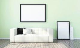 Modern helder binnenland 3d geef terug Royalty-vrije Stock Fotografie