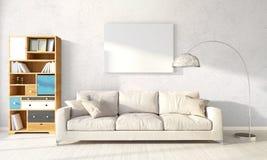 Modern helder binnenland het 3d teruggeven Royalty-vrije Stock Afbeelding