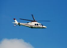 Modern helicopter royalty free stock photography