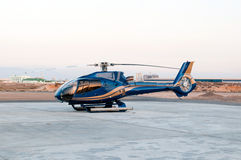 Modern helicopter at helipad Royalty Free Stock Photo