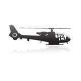 Modern helicopter silhouette Stock Image