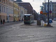 Modern Helsinky spårvagn Royaltyfri Foto