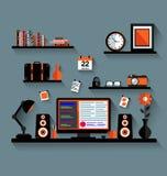 Modern hem- illustration för massmediaunderhållningsystem Stock Illustrationer