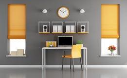 Modern hem- workspace Arkivfoto