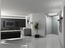 modern hemmiljö Arkivbilder