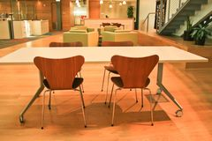 Modern het ontwerpgebied van het Bureau Stock Foto