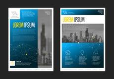 Modern het ontwerpmalplaatje van de bedrijfs collectief brochurevlieger Stock Fotografie