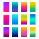 Modern het schermontwerp als achtergrond voor mobiele app Zachte kleurengradiënten vector illustratie