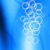 Modern Hexagon on abstract  background Stock Photography