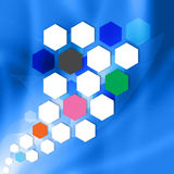 Modern Hexagon  on  abstract  background Stock Photos