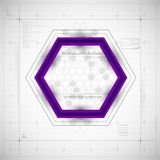 Modern Hexagon background. Vector illustration Royalty Free Stock Photos