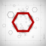 Modern Hexagon background. Vector illustration Royalty Free Stock Images