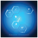 Modern Hexagon Business Infographic Background Design Template Royalty Free Stock Images