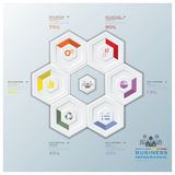 Modern Hexagon Business Infographic Stock Images