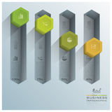 Modern Hexagon Diagram Business Infographic Royalty Free Stock Image