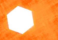 Modern hexagon frame stock image