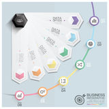 Modern Hexagon Round Rotate Step Business Infographic Diagram Royalty Free Stock Images
