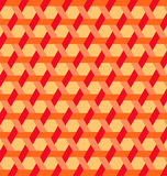 Modern hexagon shapes and lines background of red, orange and yellow shades Royalty Free Stock Images