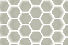 Modern hexagon shelves background Royalty Free Stock Photos