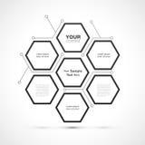 Modern hexagon Webontwerp royalty-vrije illustratie